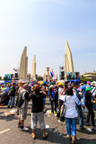 BANGKOK, THAILAND-DECEMBER 9 : The big group of protestors to at Royalty Free Stock Images