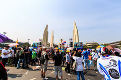 BANGKOK, THAILAND-DECEMBER 9 : The big group of protestors to at Stock Image
