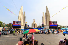BANGKOK, THAILAND-DECEMBER 9 : The big group of protestors to at Royalty Free Stock Image