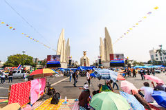 BANGKOK, THAILAND-DECEMBER 9 : The big group of protestors to at Royalty Free Stock Photography