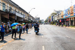 BANGKOK, THAILAND-DECEMBER 9 : The big group of protestors to at Royalty Free Stock Photos