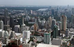 Bird eye view of Bangkok city Royalty Free Stock Photo
