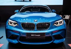 BMW M2 MPower Coupe. Bangkok, Thailand - December 11, 2017: BMW M2 MPower Coupe presented in Motor Expo 2017 Royalty Free Stock Images