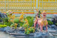 Creature sculpture, to decorate the Royal Crematorium Royalty Free Stock Image