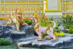 Creature sculpture, to decorate the Royal Crematorium Stock Photography