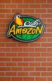 Exterior brand logo of Cafe Amazon, Bangkok, Thailand. stock photos