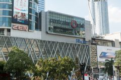 BANGKOK, THAILAND - December 6, 2017: Front of Central World. CentralWorld is a shopping plaza and complex in Bangkok, Thailand. It is the tenth largest Royalty Free Stock Image