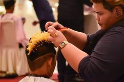 BANGKOK, THAILAND - DECEMBER 14  : hair style competiton of Nira Stock Photos
