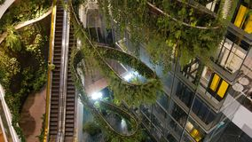 BANGKOK, THAILAND - 18 DECEMBER, 2018 het Emquartier-luxewinkelcentrum Groen ontwerp van wandelgalerij, ecologisch stock video