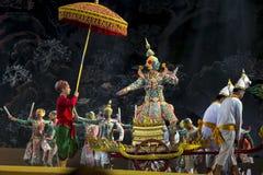 Bangkok Thailand - 13 december 2015, Khon är dansdramat av Tha Arkivfoton