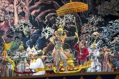 Bangkok Thailand - 13 december 2015, Khon är dansdramat av Tha Fotografering för Bildbyråer