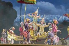 Bangkok Thailand - 13 december 2015, Khon är dansdramat av Tha Royaltyfri Fotografi