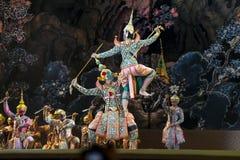 Bangkok Thailand - 13 december 2015, Khon är dansdramat av Tha Arkivbild