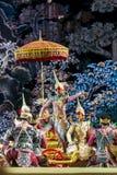 bangkok Thailand - 13 december 2015, Khon in dansdrama Royalty-vrije Stock Afbeeldingen