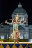 bangkok Thailand - 13 december 2015, Khon is dansdrama van Tha Stock Foto