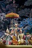 bangkok Thailand - 13 december 2015, Khon is dansdrama van Tha Stock Fotografie