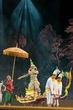 bangkok Thailand - 13 december 2015, Khon is dansdrama van Tha Royalty-vrije Stock Foto