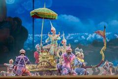 bangkok Thailand - 13 december 2015, Khon is dansdrama van Tha Royalty-vrije Stock Fotografie