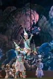 bangkok Thailand - 13 december 2015, Khon is dansdrama van Tha Royalty-vrije Stock Afbeelding