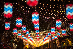 BANGKOK, THAILAND - DECEMBER 27.2015: Kleurrijk van fastival lamp Stock Afbeelding