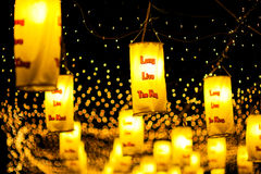 BANGKOK, THAILAND - DECEMBER 27.2015: Kleurrijk van fastival lamp Stock Fotografie