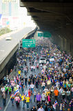 BANGKOK,Thailand - December 9,2013 : A protester joins an anti-government. Stock Image