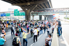 BANGKOK,Thailand - December 9,2013 : A protester joins an anti-government. Royalty Free Stock Photography