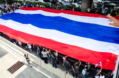 BANGKOK,Thailand - December 9,2013 : A protester joins an anti-government. Stock Images