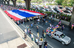 BANGKOK,Thailand - December 9,2013 : A protester joins an anti-government. Royalty Free Stock Photos