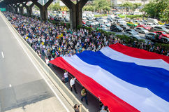 BANGKOK,Thailand - December 9,2013 : A protester joins an anti-government. Stock Photos