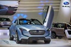 BANGKOK THAILAND-DECEMBER 1 : Subaru VIZIV displayed on stage at Stock Photo