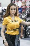 Unidentified modellings present at Motor Show. Bangkok-Thailand-3 December 2017: Unidentified modellings present at Motor Show Muangthong 2017 - The biggest royalty free stock photography