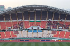 Bangkok , Thailand - December 8 ,2016 : Unidentified Thailand supporters before final match to night in Rajamangala stadium Stock Photo