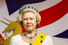BANGKOK THAILAND - DECEMBER 19: Vaxdiagram av den berömda drottningen arkivbild