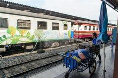 BANGKOK, THAILAND - DECEMBER 30, 2012: washing train Stock Image