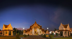 BANGKOK, THAILAND - December 18, 2015 : Wat Benchamabophit The Marble Temple Royalty Free Stock Photography