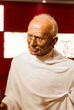 BANGKOK, THAILAND - DECEMBER 19: Wax figure of the famous Mahatm. A Ghandi from Madame Tussauds on December 19, 2015 in Bangkok, Thailand Royalty Free Stock Photography