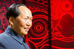 BANGKOK, THAILAND - DECEMBER 19: Wax figure of the famous Mao Ze. Dong from Madame Tussauds on December 19, 2015 in Bangkok, Thailand Royalty Free Stock Image