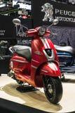 Bangkok, Thailand - Decemeber 3, 2019 : Peugeot Django 150 scooter on display at the Bangkok Motor Expo 2019 in Thailand. The 2019