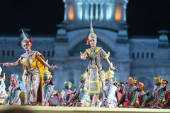 bangkok Thailand - 13. Dezember 2015 ist Khon Tanzdrama von Tha Lizenzfreies Stockbild