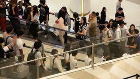Bangkok, Thailand - 26. Dezember 2017: Siam Paragon-Einkaufszentrum stock footage