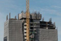 Bangkok, Thailand - Dezember 4,2017 - Spitze von underconstruction Gebäude lizenzfreies stockbild