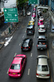 Bangkok, Thailand, Downtown Traffic Jam Royalty Free Stock Photo