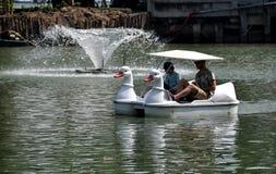 Bangkok, Thailand: Duck Boat in Lumphini-Park stock afbeeldingen