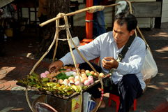 Bangkok, Thailand: Egg Seller in Chinatown Royalty Free Stock Photography