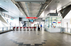 Bangkok,Thailand:Entrance of the Airport Link Paya Stock Photos
