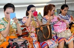 Bangkok, Thailand: Erawan Shrine Dancers Stock Photo