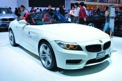 BANGKOK THAILAND - FÖRDÄRVA 30: BMW aktiv sh hybrid- 5 arkivfoto