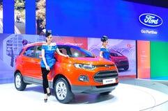 BANGKOK THAILAND - FÖRDÄRVA 30: Ford Eco sport visat a royaltyfri fotografi
