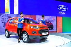 BANGKOK THAILAND - FÖRDÄRVA 30: Ford Eco sport visat a arkivbild